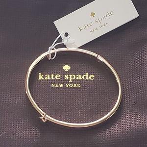 Kate Spade Rose Gold Spade Bangle Bracelet